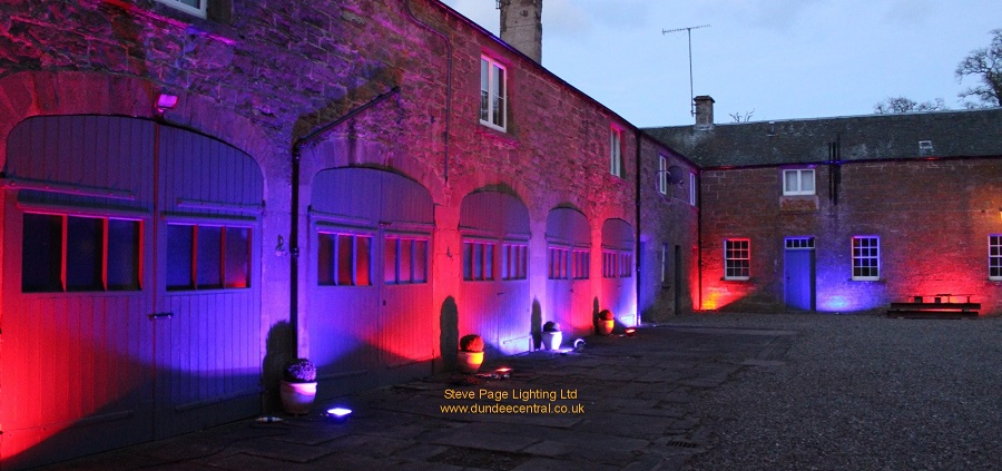 courtyard lighting hire Abercairny