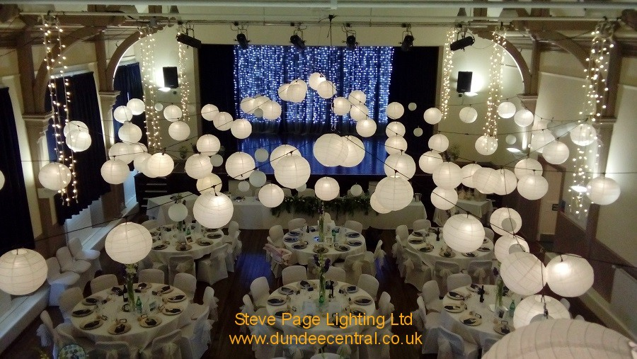 wedding lighting in Anstruther