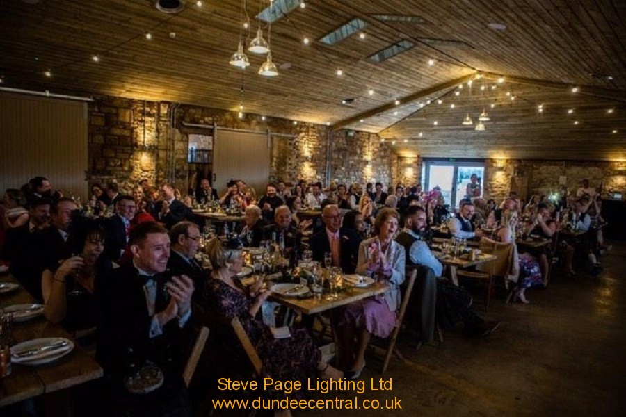 uplighters at Falside Mill Fife for hire