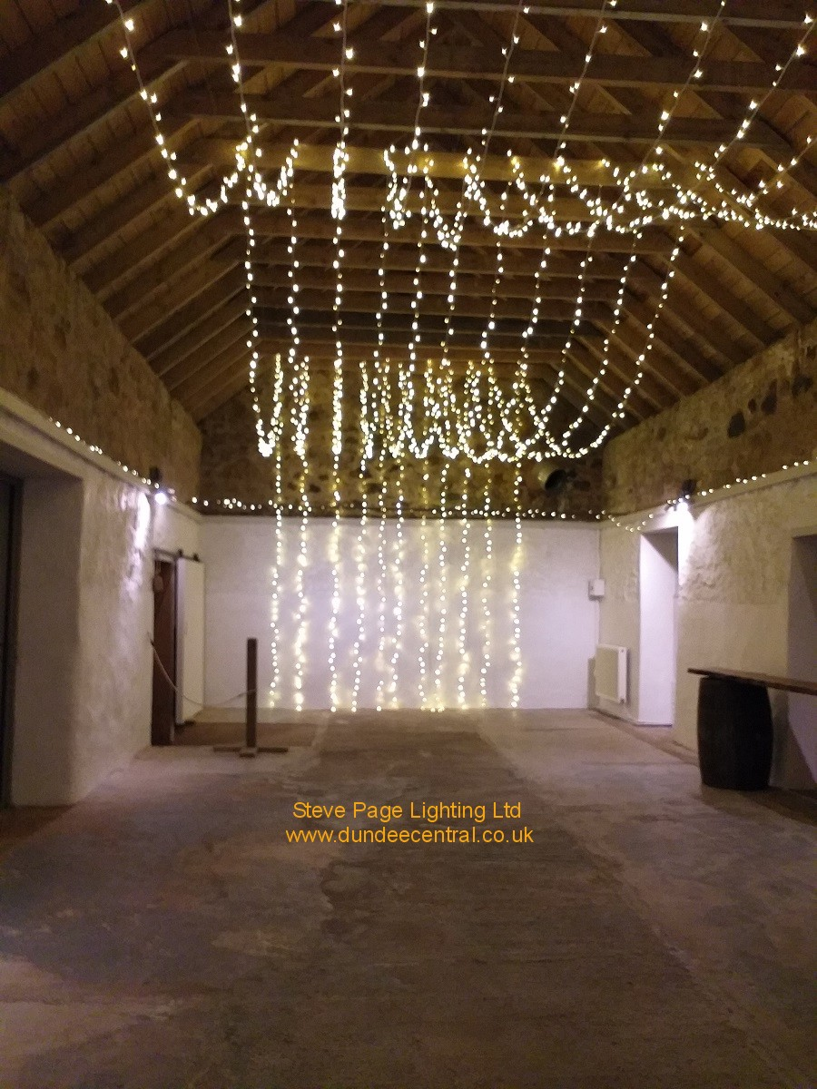 cow shed crail fairylight hire