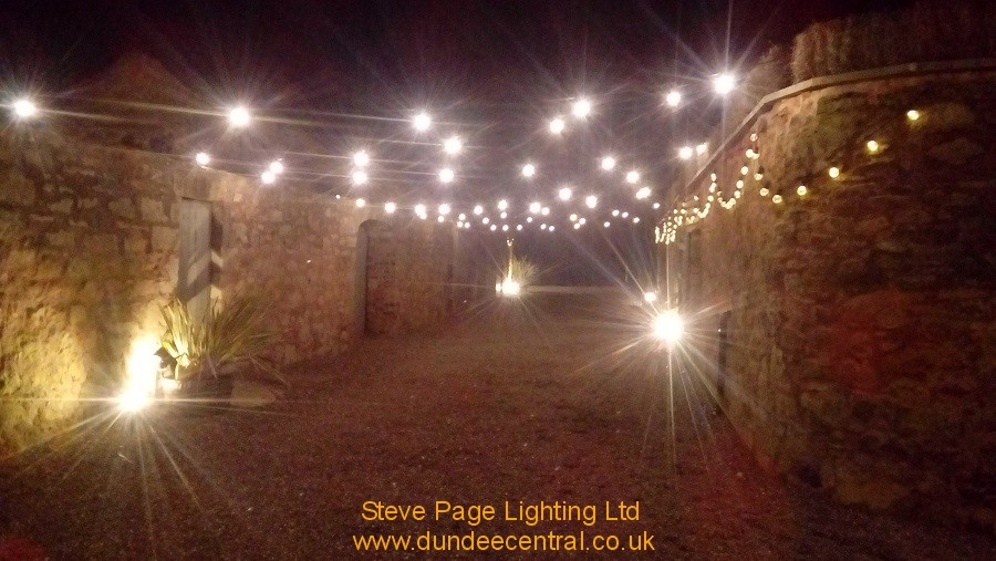 cow shed outdoor lighting hire fife