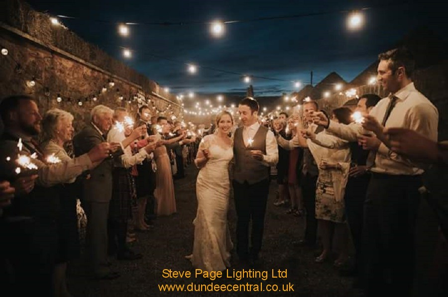 outdoor lighting at the cow shed by steve page